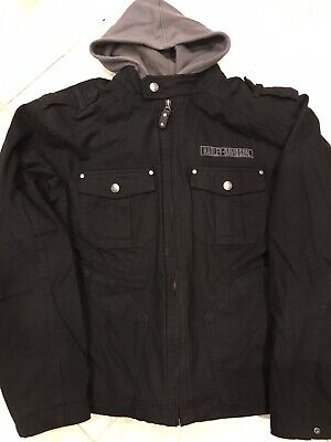Harley Davidson Mens Skull Cotton Canvas Jacket 3 in 1 -Large- Excellent cond