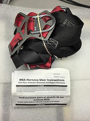 Msa 10041612 Technacurv Safety Harness Vest Style Pullover Riggers X-large New