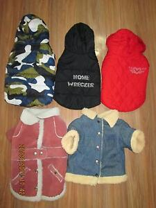 DOG  JACKETS   for winter     new  $5 each   , little dogs Para Hills Salisbury Area Preview