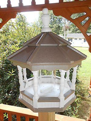 Vinyl Bird Feeder Amish Homemade Handmade Handcrafted Clay White md
