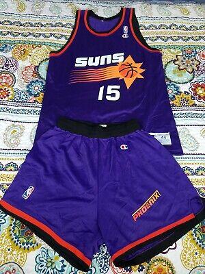 Danny Manning Phoenix Suns Champion Jersey & Shorts Uniform Sz 44 L Vintage 90s - Champion Jersey Shorts