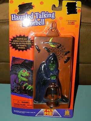 RARE Talking Grim Reaper Doorbell 1996 Toy State Industrial Halloween LIGHTS - Grim Reaper Halloween Props