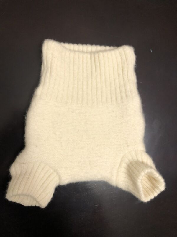 Disana Wool Diaper Cover 3-6 Months Baby Oatmeal-wool Color