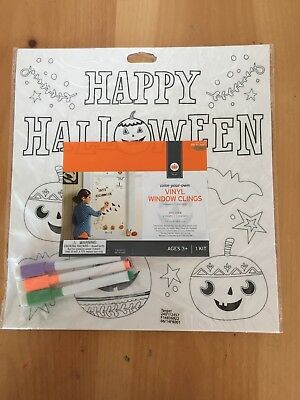 Halloween Color Your Own Vinyl Window Clings Reusable And Washable](Halloween Vinyl Clings)