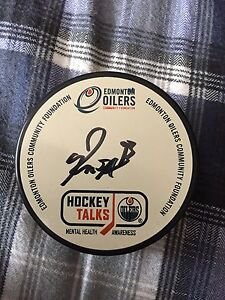 Ryan Nugent- Hopkins Signed Puck (Oilers)