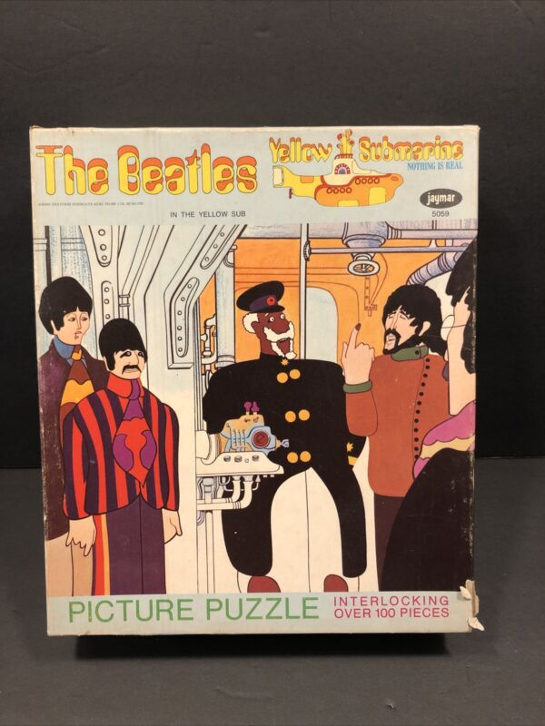 The Beatles Yellow Submarine puzzle In the Yellow Sub Jaymar 5059 1968 Complete