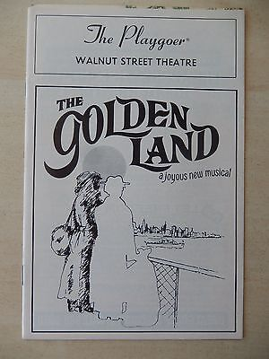 May 1987 - Walnut Street Theatre Playbill - The Golden Land - Phyllis Berk