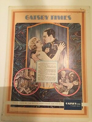 Used, 1973 Gatsby Clothing by Robert Bruce Cardboard Store Sign Great Lovers Graphics for sale  Marshalltown