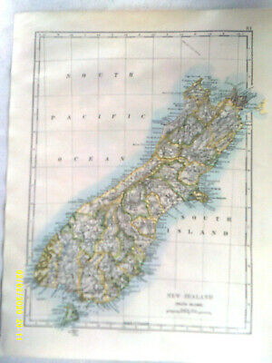 Double-sided Antique Map. NEW ZEALAND (South Island).  /  NEW GUINEA. c1895. VG.