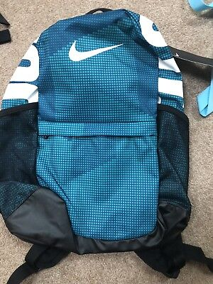 Nike Kids Brasilia Printed BACKPACK Teal/Black/White NWT BA5755