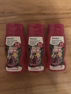 "3x 50ml Tetesept 3in1 Shower & Shampoo ""Mutige Fee"" Kinder Duschgel"