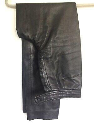 BURBERRYS LADIES BLACK LAMB LEATHER PANTS size 4P