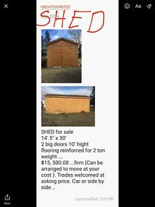 SHED 14.5 x 30