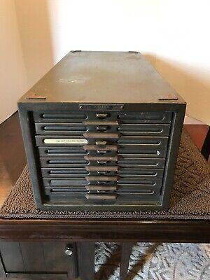 Vintage 1910s 8 Drawer Kardex File Cabinet