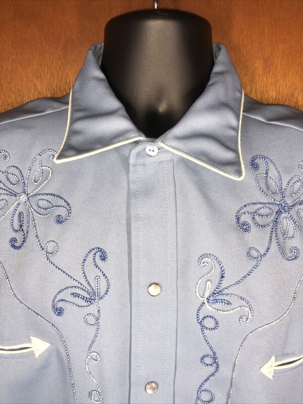 Vintage H Bar C California Ranchwear Western Shirt El Dorado Collection size 17