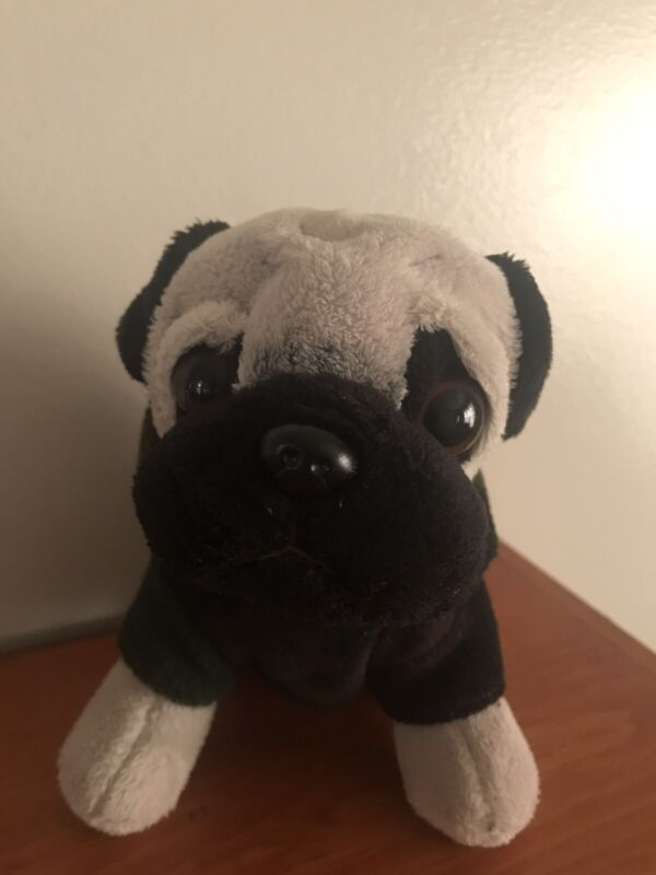 "Doug the Pug 5"" Mini Puppy Dog Plush Toy Doll in Camo Camoflauge Shirt"
