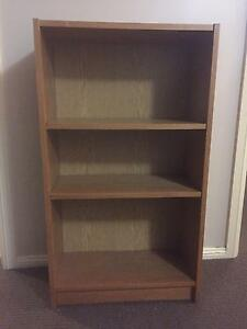Timber veneer 2 shelf bookcase Kellyville The Hills District Preview