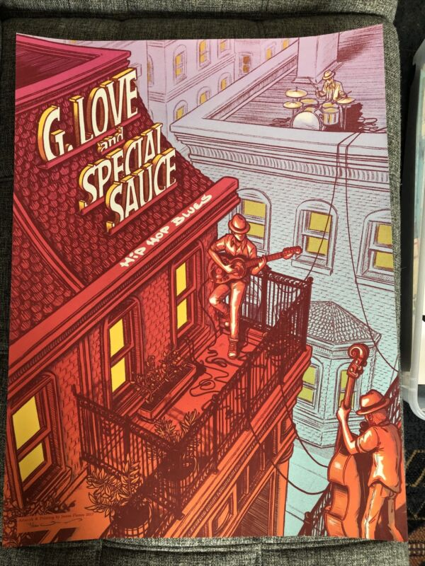 G Love and Special Sauce Hip Hop Blues James Flame Screen Print Poster 2017 #112