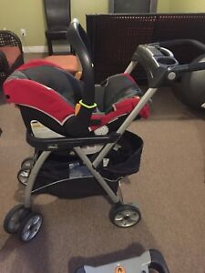 Chico keyfit 30 infant car seat with 2 bases & snap on stroller