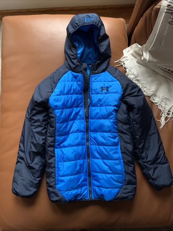 Under Armour ColdGear Hooded Jacket Blue Youth Large