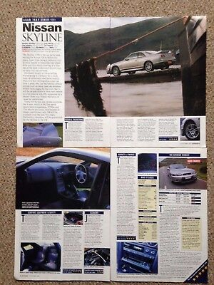NISSAN SKYLINE GTR V-Spec - Road Test Article - Autocar Magazine 1997