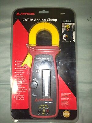 Amprobe Rs-3 Pro 600vac300a Ac Analog Clamp Meter Cat Iv Rated Brand New Sealed