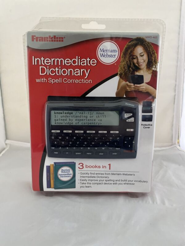 Franklin MWD-465 Merriam Webster Intermediate Dictionary W/ Spell Correction
