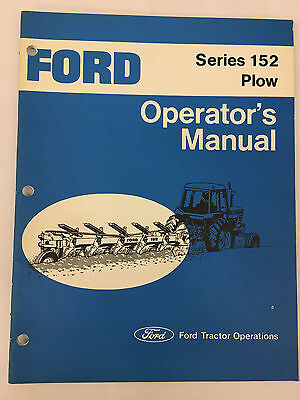 Ford Tractor Series 152 Plow Operators Manual