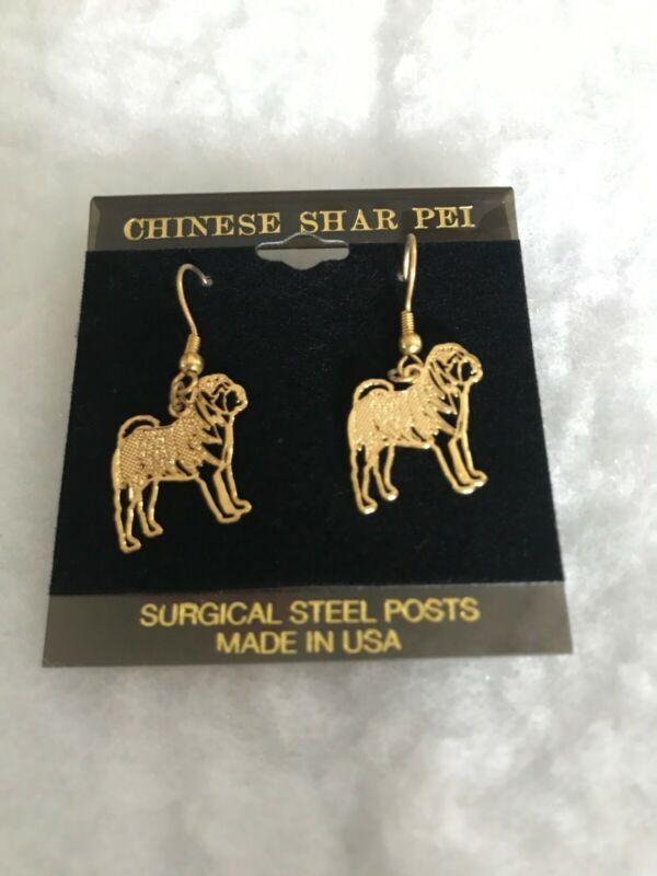 SHAR PEI GOLD PLATED EAR RINGS