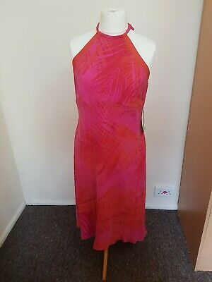 90s Pink and Orange Monsoon Dress (with tags) - Size 18