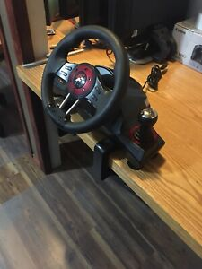Wheel and pedals set, PC, PS4, PS3, and x-Box one