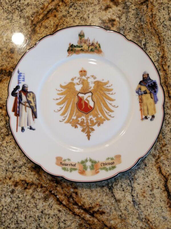 Vintage Kaiserhof Chicago Hotel Restaurant Plate