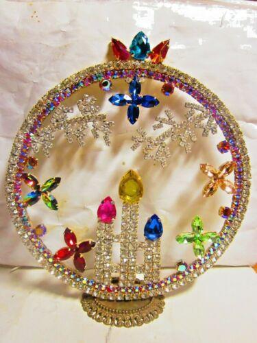 BEAUTIFUL CZECH HANDMADE CHRISTMAS CIRCLE DECORATION STANDING SIGNED