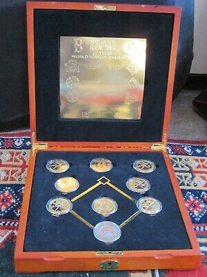 Boston Red Sox Coin Set - Boston Red Sox Commemorative 24K Coin Set in Wooden Display Box
