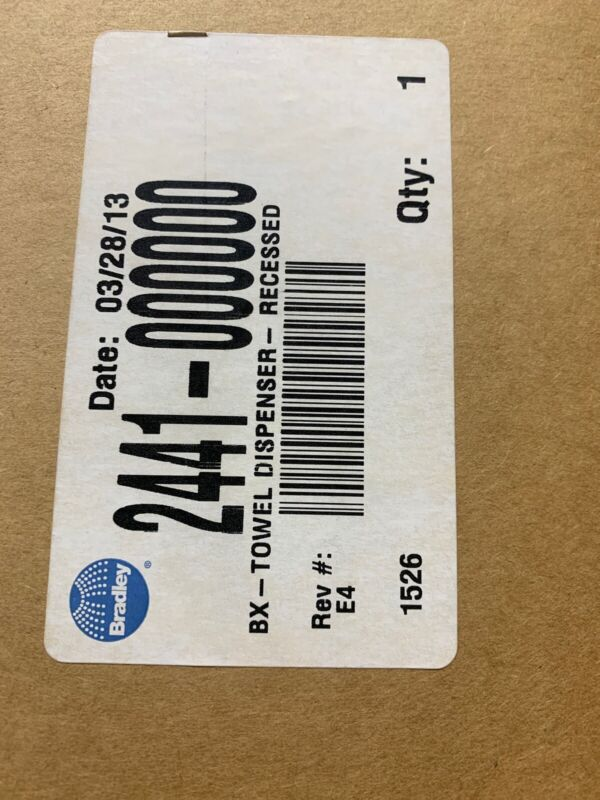 BRADLEY 2441-000000-GR Bx-Towel Dispenser, Recessed