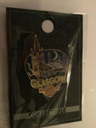 HARD ROCK CAFE PIN GLASCOW CORE GREETINGS FROM