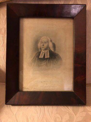 Antique Framed Photo/Print of Bishop Edward Bass (1st Episcopal Bishop of MASS)