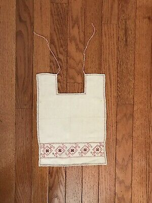 Vintage Linen Hand Embroidered Baby -