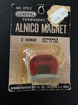 General Tool 370-2 Horseshoe Retrieving Alnico 12lb Pull Magnet 2oz