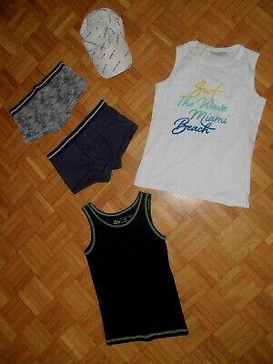 5 tlg.Bekleidungspaket,Jungen T-Shirts Gr.134/140+146/152 Hose,Mütze-Caps Shirts