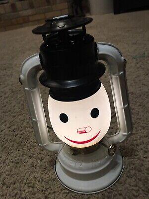 Dietz Snowman Battery Operated Lamp Lantern Christmas Vintage