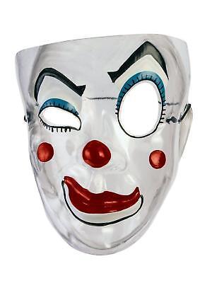 Creepy Transparent Wink Clown Mesh Evil Clown Plastic Mask (Plastic Clown Mask)