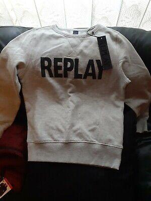 Grey Replay Sweatshirt Boys size 12 yrs.