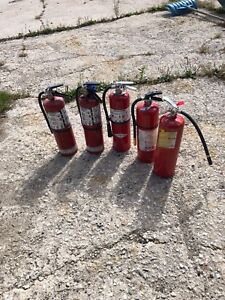 5 fire extinguishers