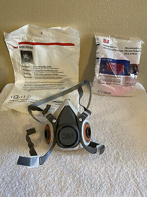 3m 619107001 Half Face Respirator With Filters 209107000 Size Small New