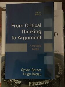 From critical thinking to argument fourth addition