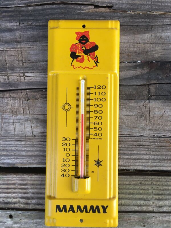 Vintage Metal Mammy Thermometer