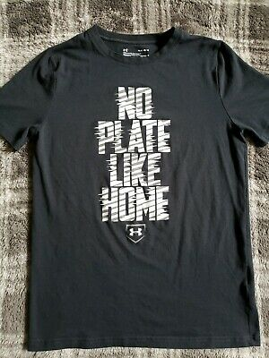 Under Armour Baseball 'No Plate Like Home' Youth Graphic T-Shirt  size Large  - Under Armour Graphic T-shirt Baseball