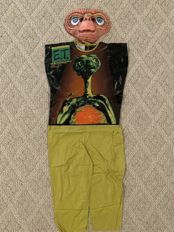 1982 Vintage E.T. Halloween Costume-Mask The Extraterrestrial Collegeville Mint!