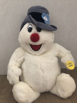 """Gemmy Frosty The Snowman Musical Animated Plush Christmas Sings 10"""" 1999 Works!"""